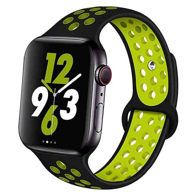Silicone Wristband Suitable For Apple Watch-breathable Bracelet (set-22)