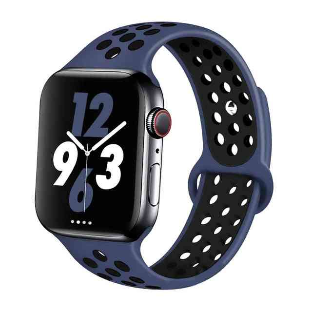 Silicone Wristband Suitable For Apple Watch-breathable Bracelet (set-18)