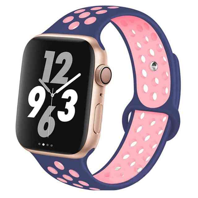 Silicone Wristband Suitable For Apple Watch-breathable Bracelet (set-10)