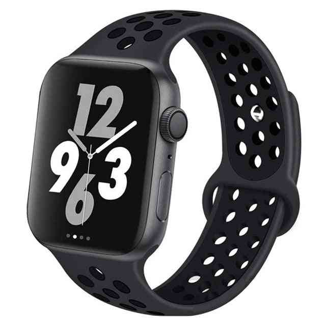 Silicone Wristband Suitable For Apple Watch-breathable Bracelet (set-11)