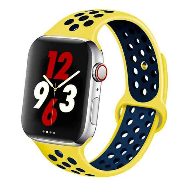 Silicone Wristband Suitable For Apple Watch-breathable Bracelet (set-9)