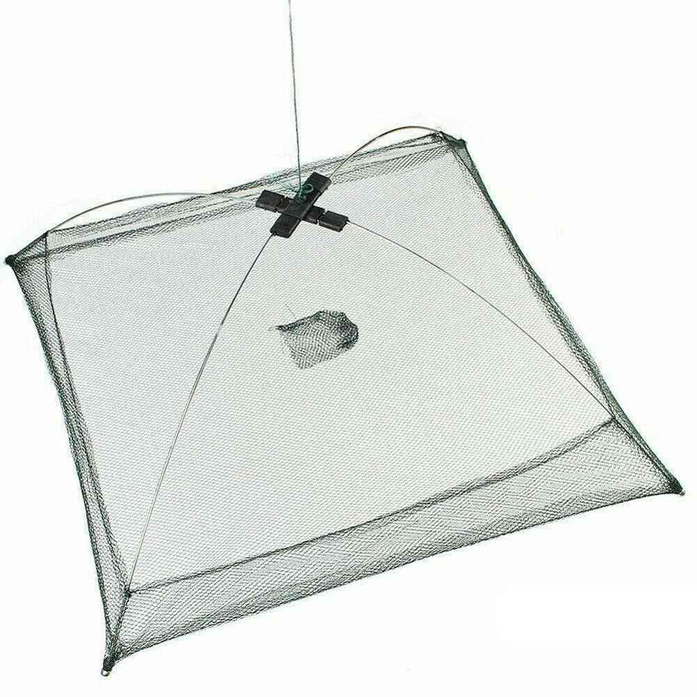 Folded Fishing Net, Small Fish Shrimp Minnow Crab Baits Cast Mesh Cage Trap