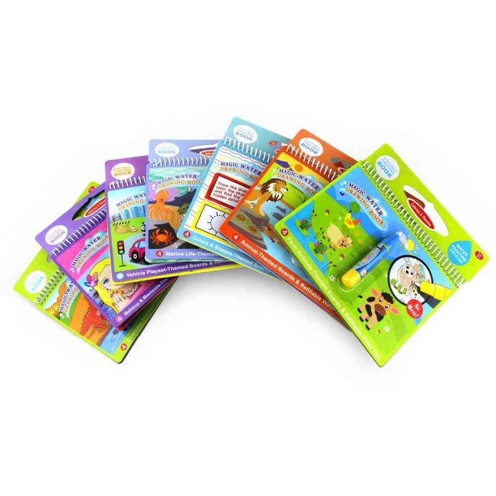 Magic Water Drawing Book, Coloring Doodle & Pen Painting Board