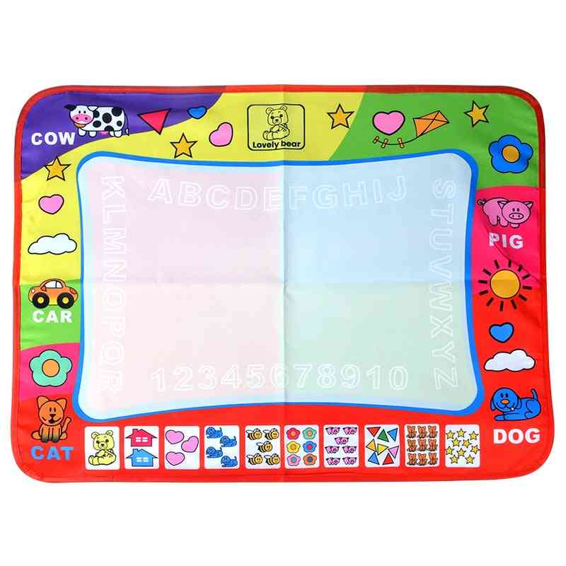 Water Drawing Mat-letter Painting Canvas Cloth And Pen