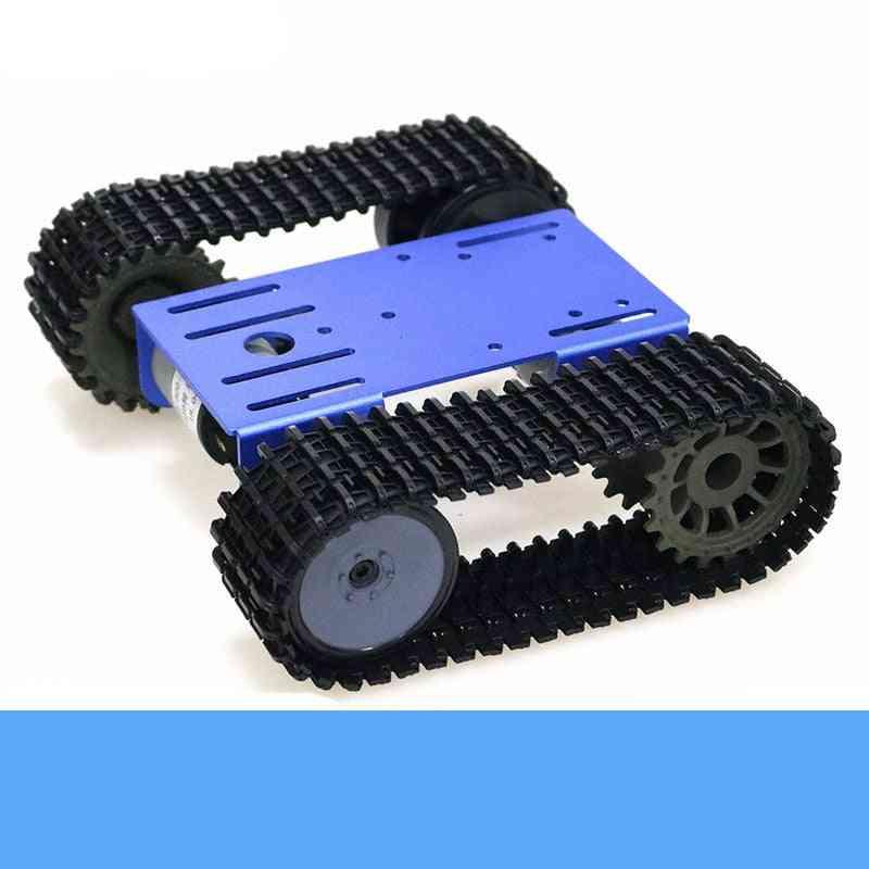 Smart Crawler Robot Tank- Chassis Kit With 12v Dc Motor, Aluminum Alloy Panel