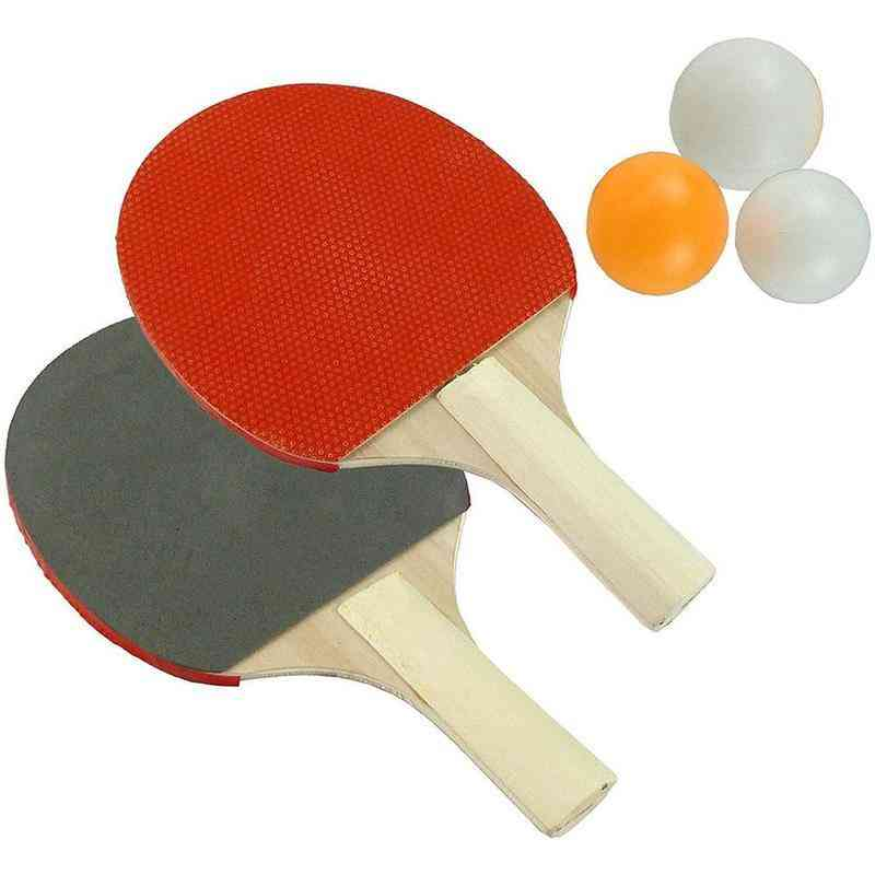 Table Tennis Racket  With 3 Ping Pong Balls Set