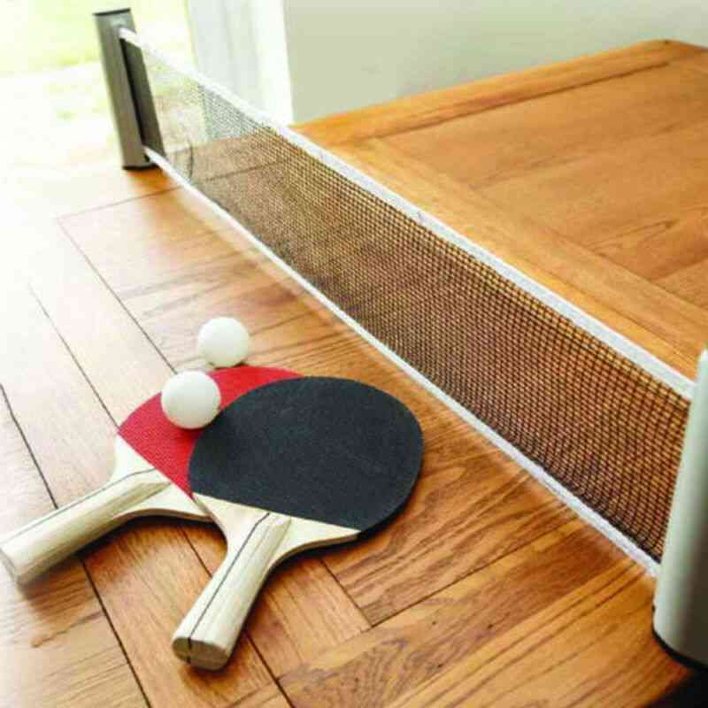Portable And Retractable Net Rack For Table Tennis