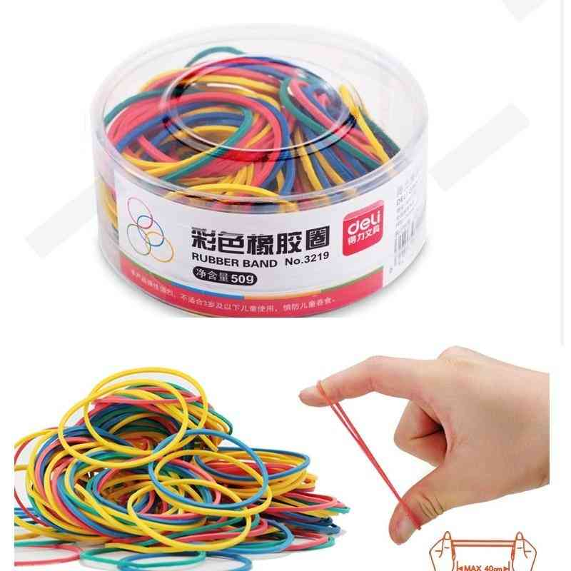 Colorful Strong Elastic Rubber Band Loop - School Stationery Office Pen Holder
