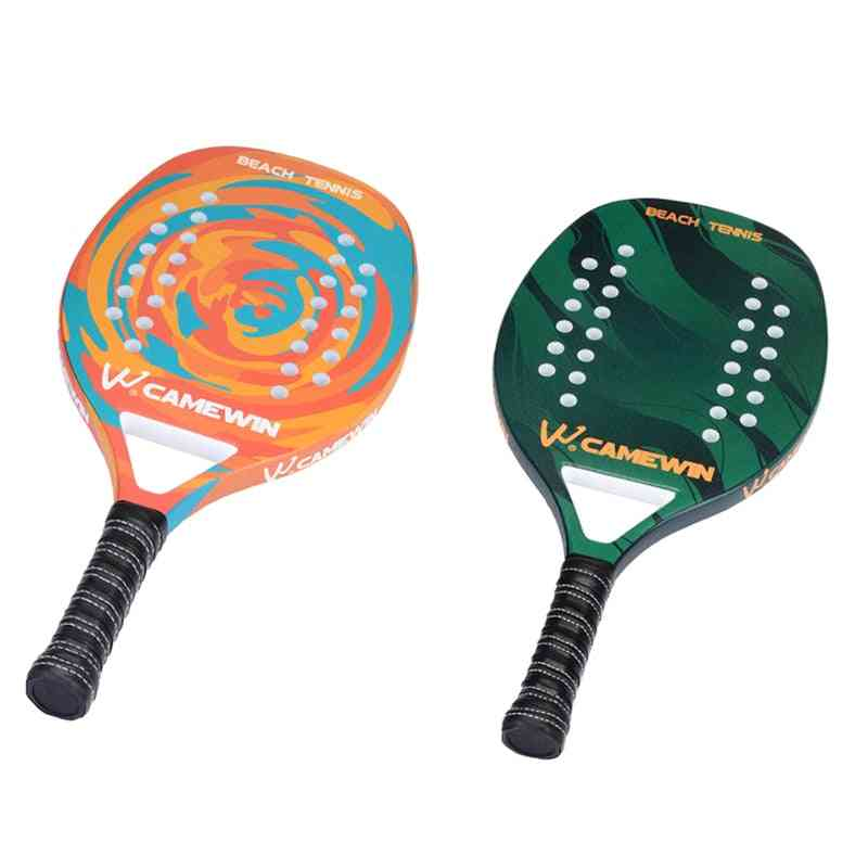 Carbon Fiber Grip And Soft Face Paddle Racquet With Protective Cover