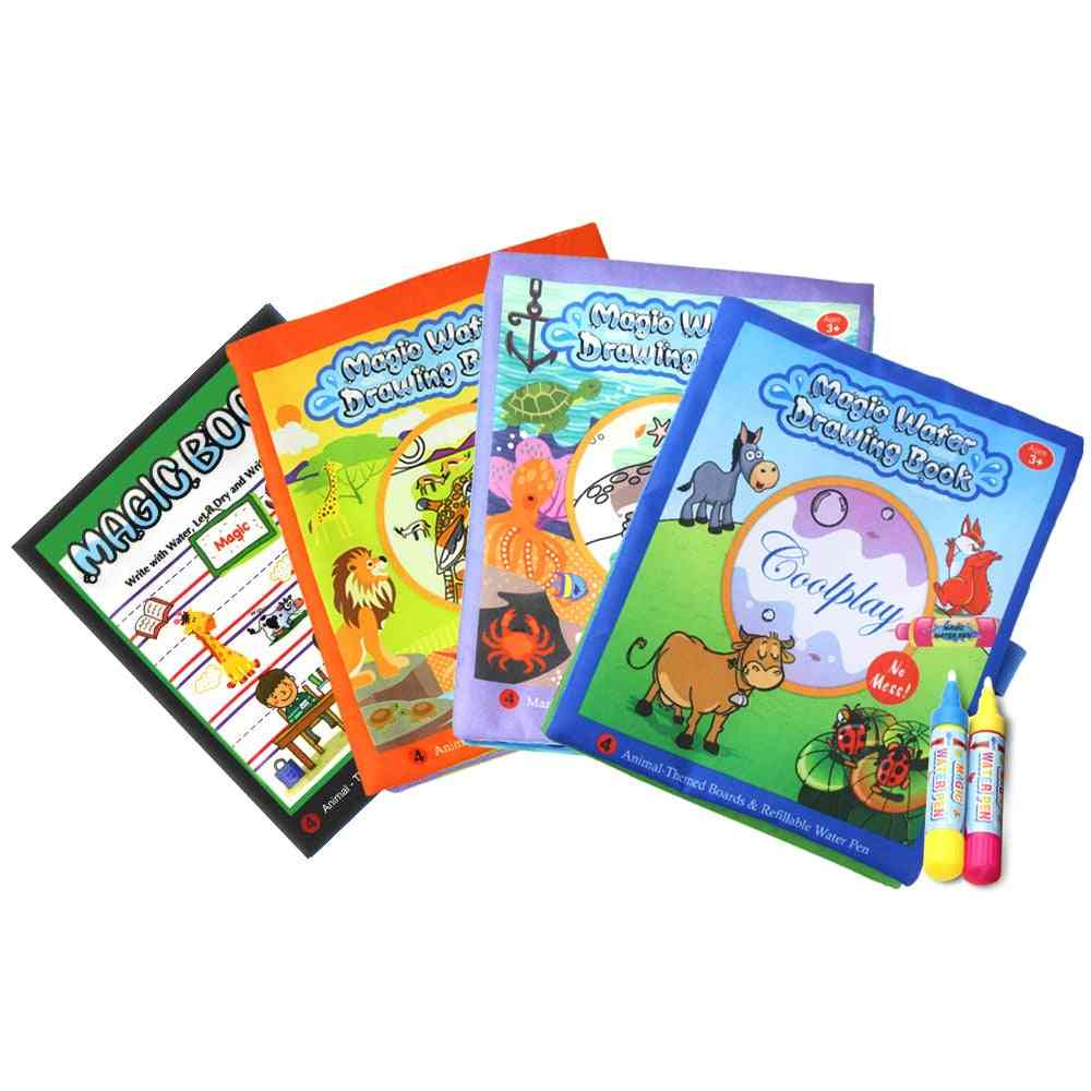 Magic Water Drawing Books, Coloring Reusable Early Educational Learning