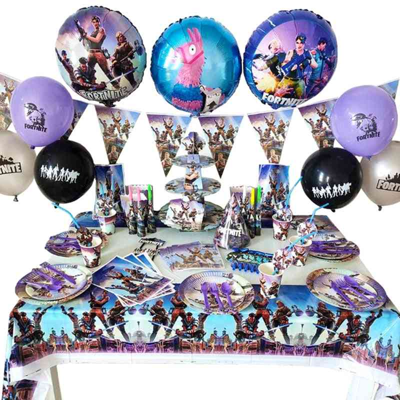 Fortnites Game Theme Sets For Kid's Party