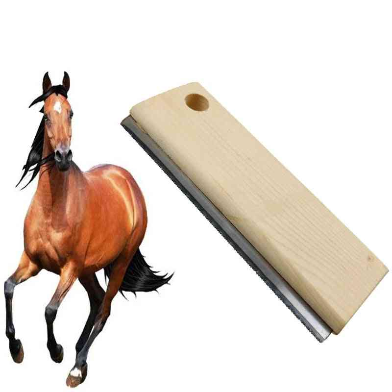 Horse Brushs Sweat Scraper Stripper Comb, Epilator Equestrian Grooming Tool
