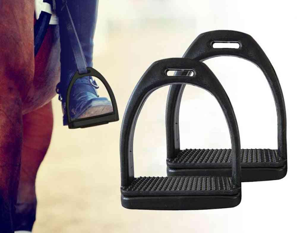 Children Durable Horse Riding Stirrups, Lightweight Wide Track Anti Slip Equestrian