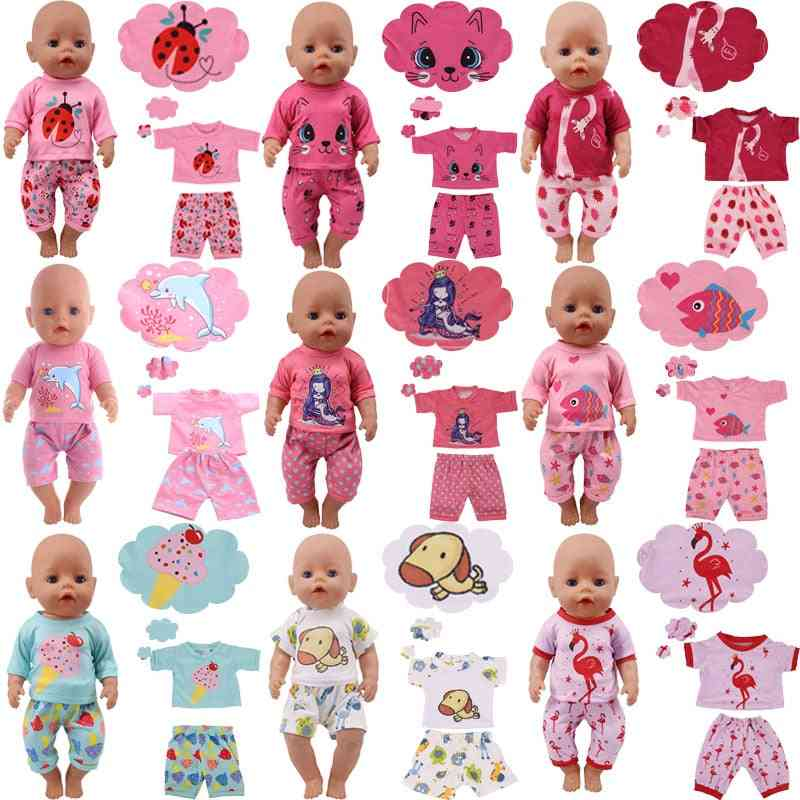 Cute Animal Pattern Baby Cloths Fit For 18/43 Inch Doll