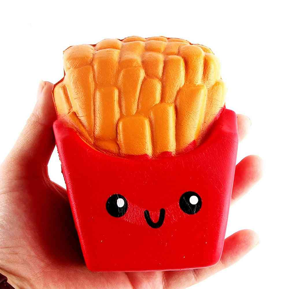 French Fries Cream Scented Compress 6 Second Slow Rising Squish Anti Stress Reliever Toy