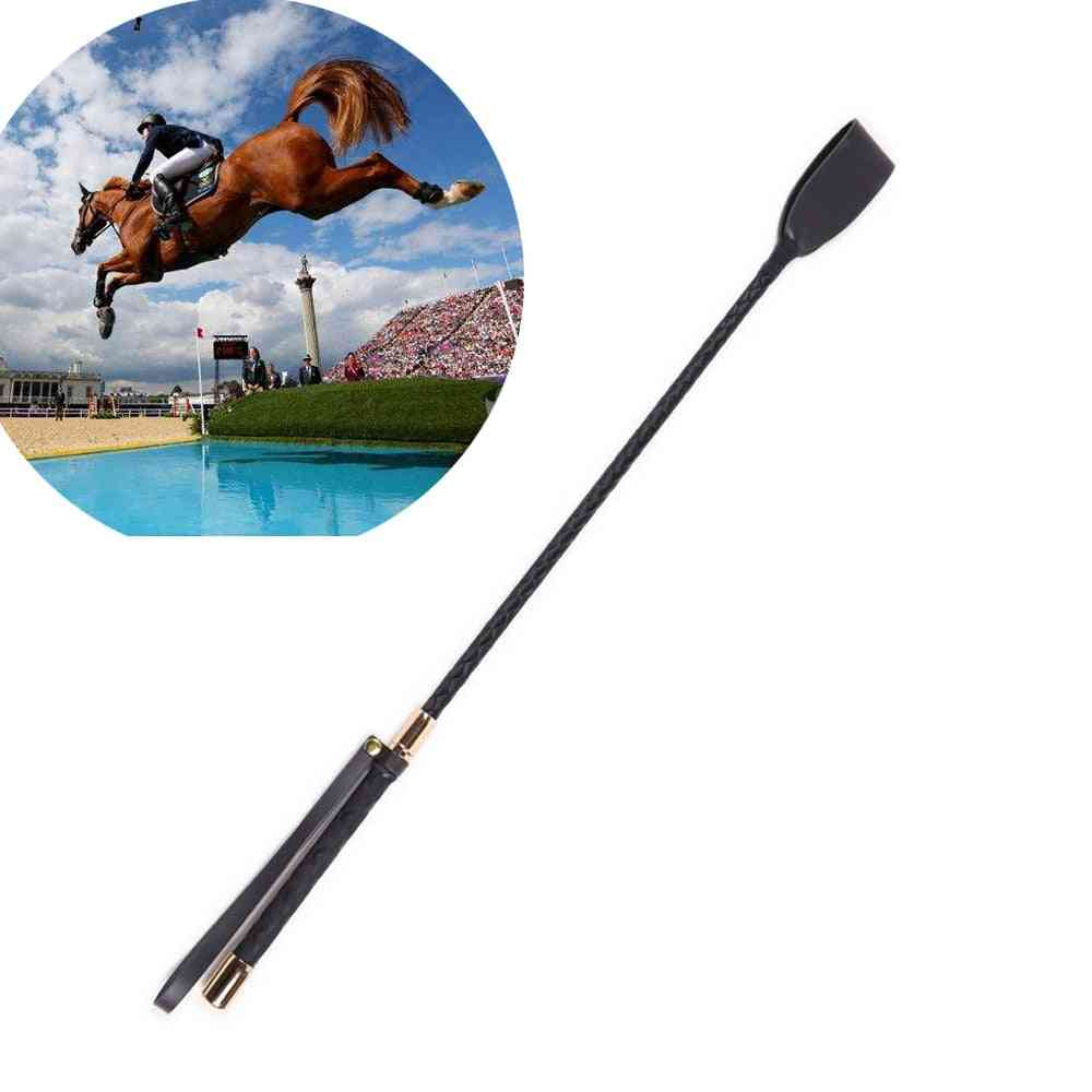 Boutique Slim Leather Riding Crop Horse Whip, Durable Stage Performance Props