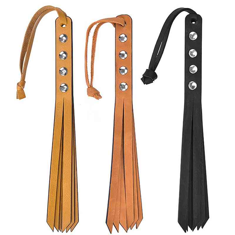 Horse Crop Flogger, Handmade Genuine Leather Whip