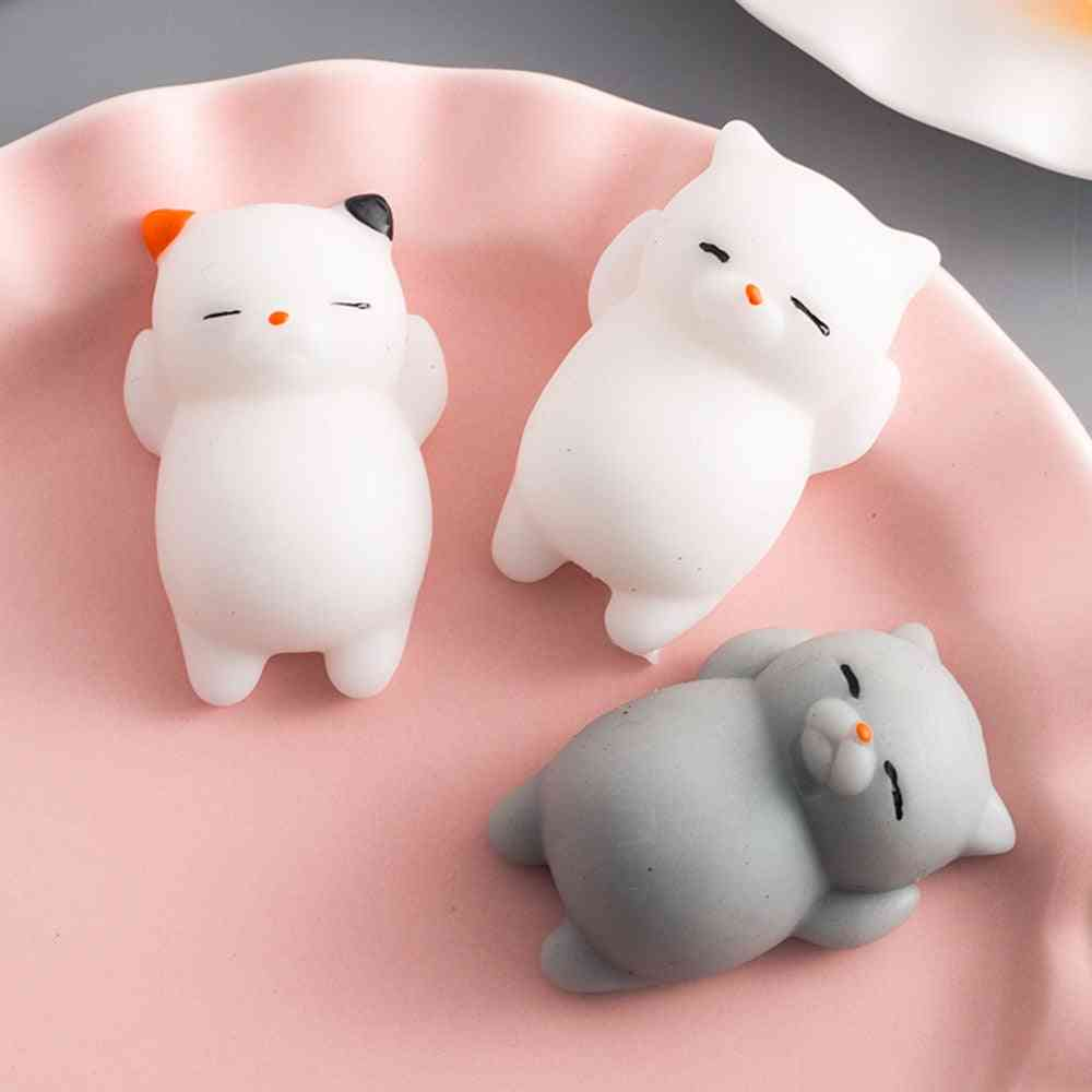 Little Cat Vent Ball Action Figure Soft Robot Doll Relax Squeeze Stress Relief Toy