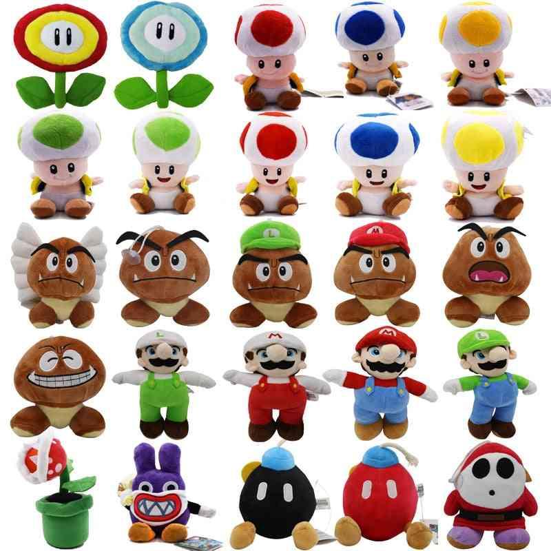Super Mario Bros, Boo Luigi, Toadette Mushroom, Goomba, Stealth Rabbit, Koopa, Shy Guy Dry Bones Stuffed Soft