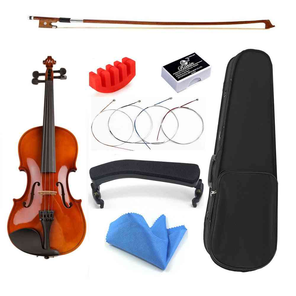 Basswood Handmade Violine And Accessories For Beginner Students