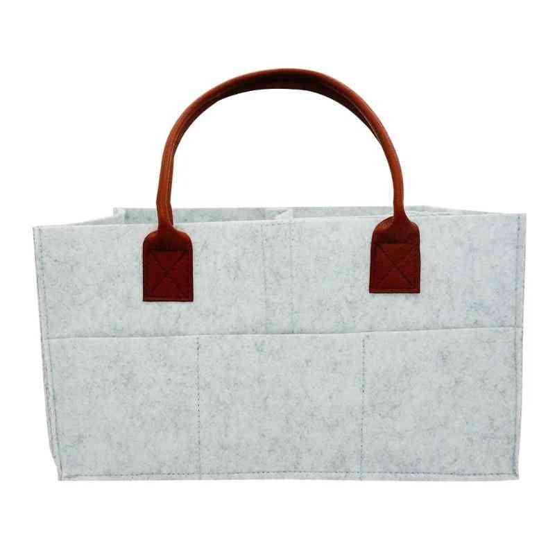 Multi-function Desktop Magazine Storage Bag, Felt Cloth Office Organizer