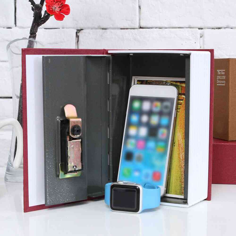 Secret Dictionary Safe Box, Book Money Security Lock Cash Coin Storage Key Locker