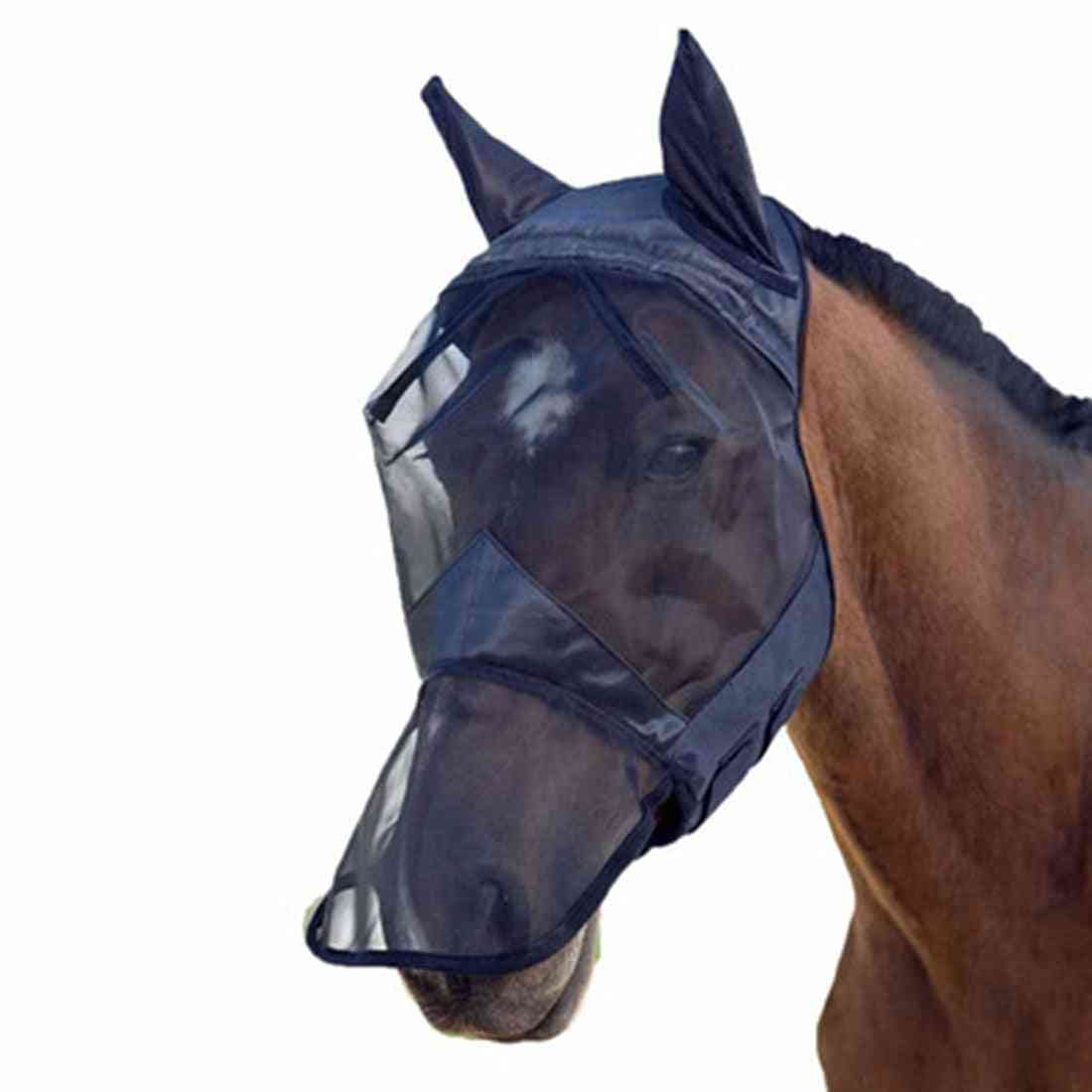 Anti-uv, Breathable Full Face Cover For Horse