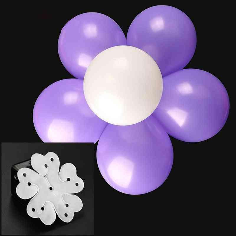 Balloon Clip Plum Blossom Flower- Seal Flower Fixed