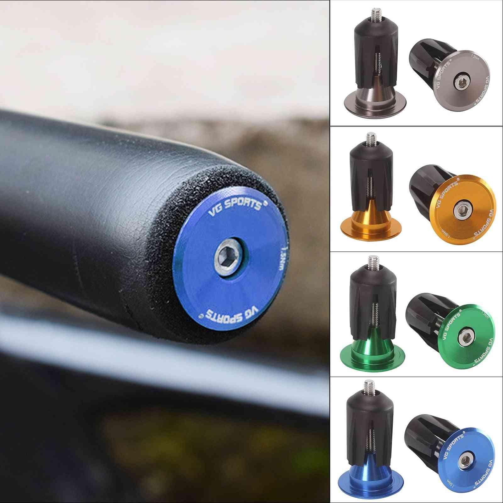 Bicycle Grip Handlebar End Cap, Aluminium Alloy Lock