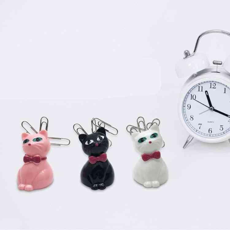 Cute Cat Paper Clip Holder, Magnetic Cosmetics Storage Box