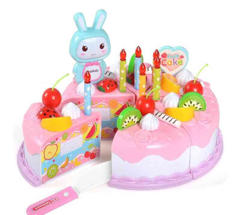 Cake Food, Diy Pretend Play Fruit Cutting For
