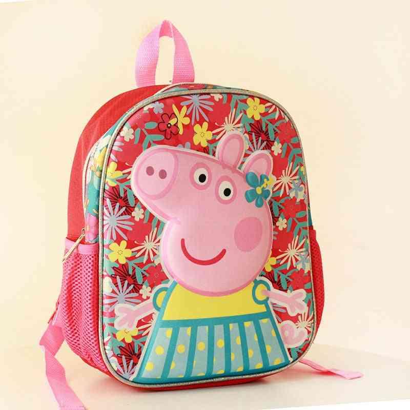 Peppa Pig Cartoon Design, 3d School Bags