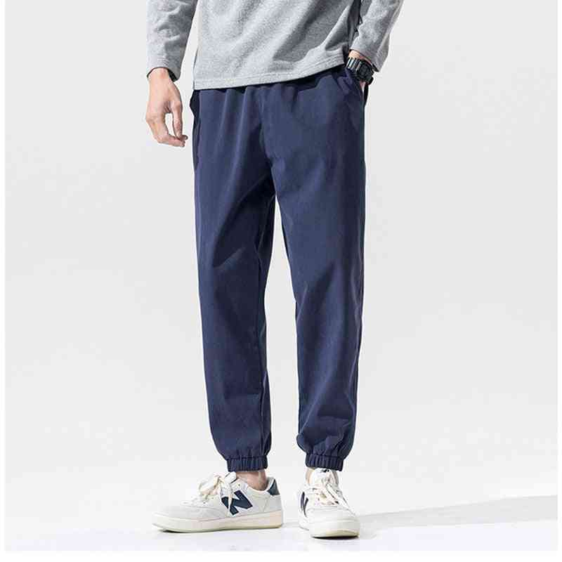 Men's Fashion Pants, Summer Trousers, Solid Sports Sweatpants Long
