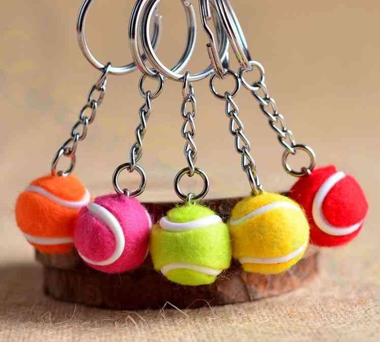 Plastic Mini, Tennis Ball/bowling/racket/golf/football/billiards/skateboard/bicycle/skate Shoes Design Key Chain