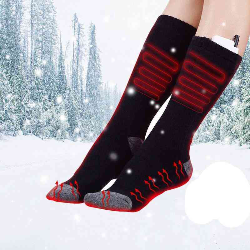 Rechargeable Electric Heating Warm Socks, Adjustable Temperature Foot Warmer