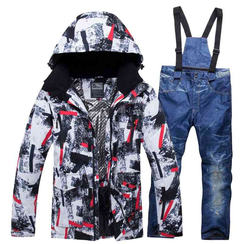New Outdoor Ski Suits And Women, Snowboard  Hiking Jacket Couples/lovers Clothes Set