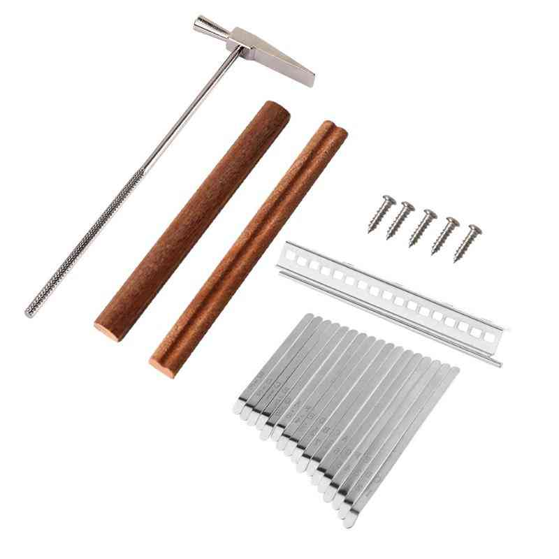 Diy Set Of Aluminum Kalimba Keys, Bridges And Tuning Hammer