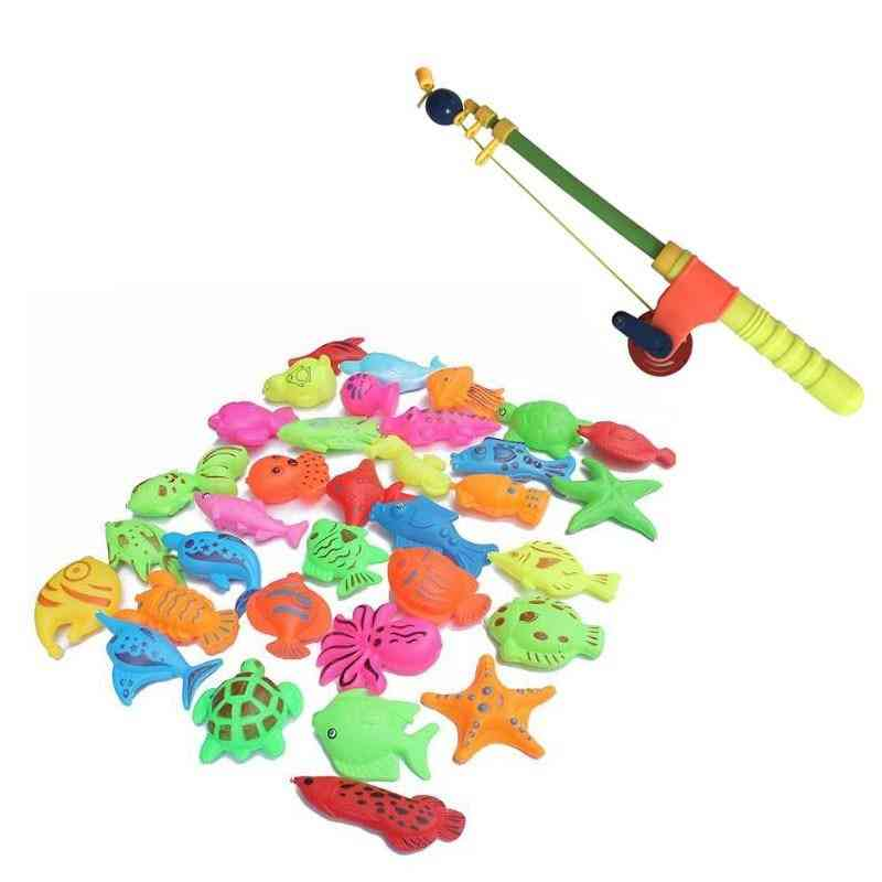 Magnetic Fishing Toy-simulation Telescopic Rod And Fishes