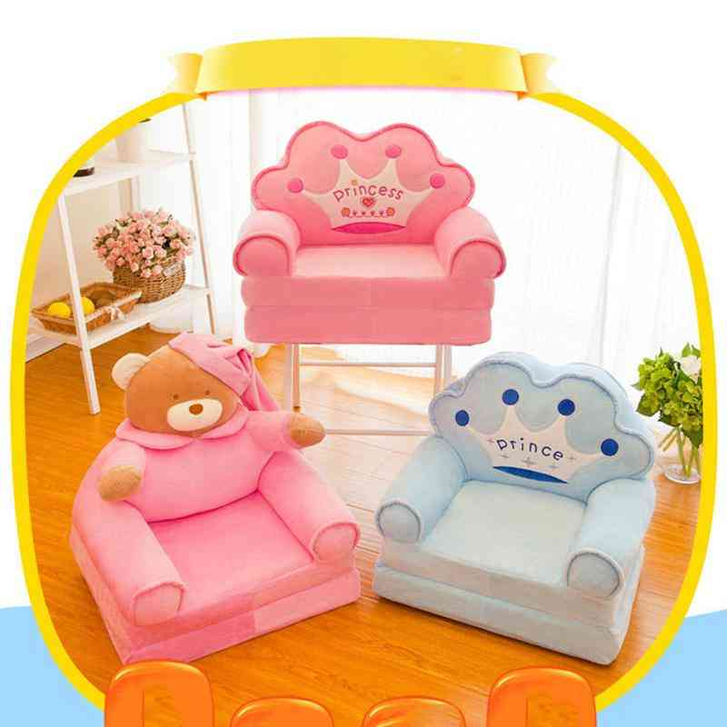 Baby Support Sofa Cover-infant Learning To Sit Plush Chair Cushion Case