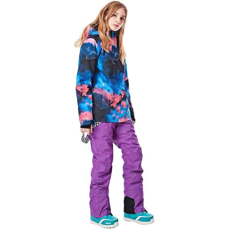New Outdoor Warm Ski Suit Women Waterproof Windproof Skiing And Snowboarding Jacket And Pants