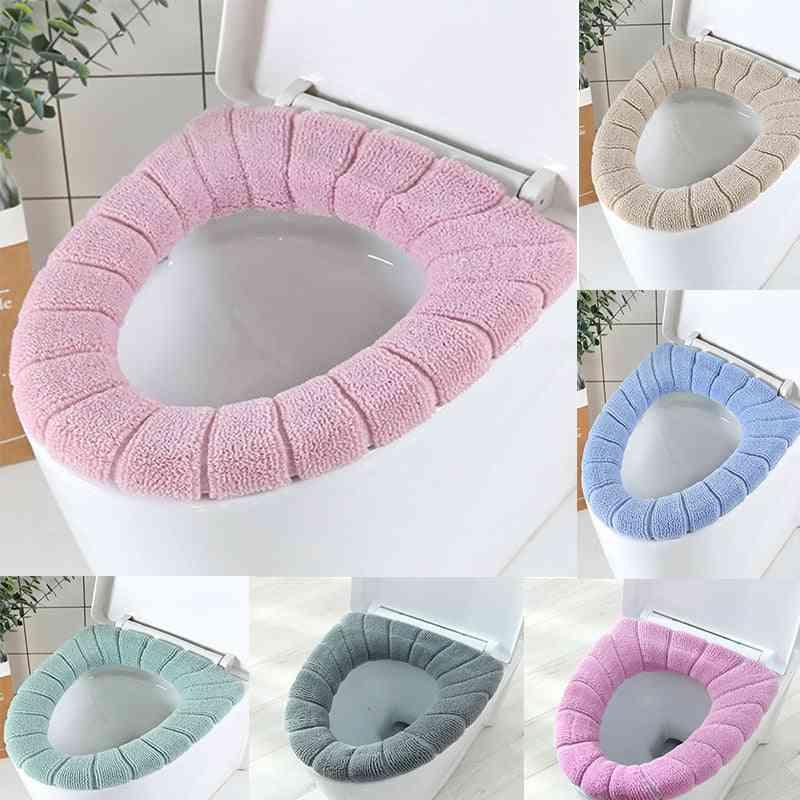 Warm Pumkin, Pattern Toilet Round Mats