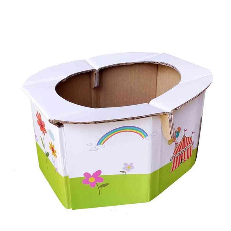 Foldable, Paper, Portable  - Potty Toilet Chair