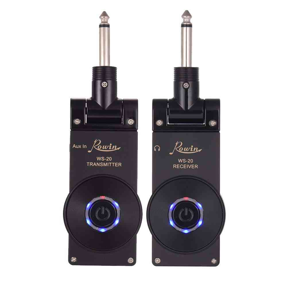 Wireless Guitar Transmitter Receiver Set, Rechargeable System Range