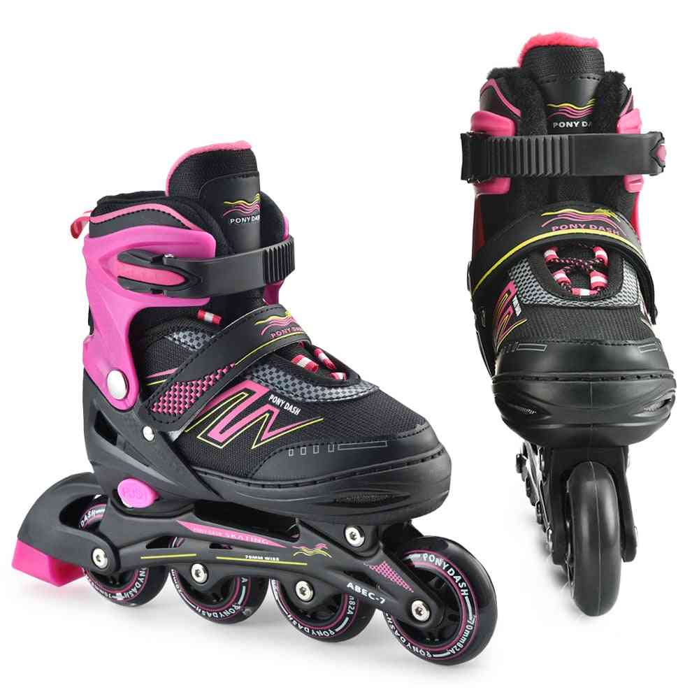 Inline Roller Skates- Adjustable Rollerblades Illuminating Wheels