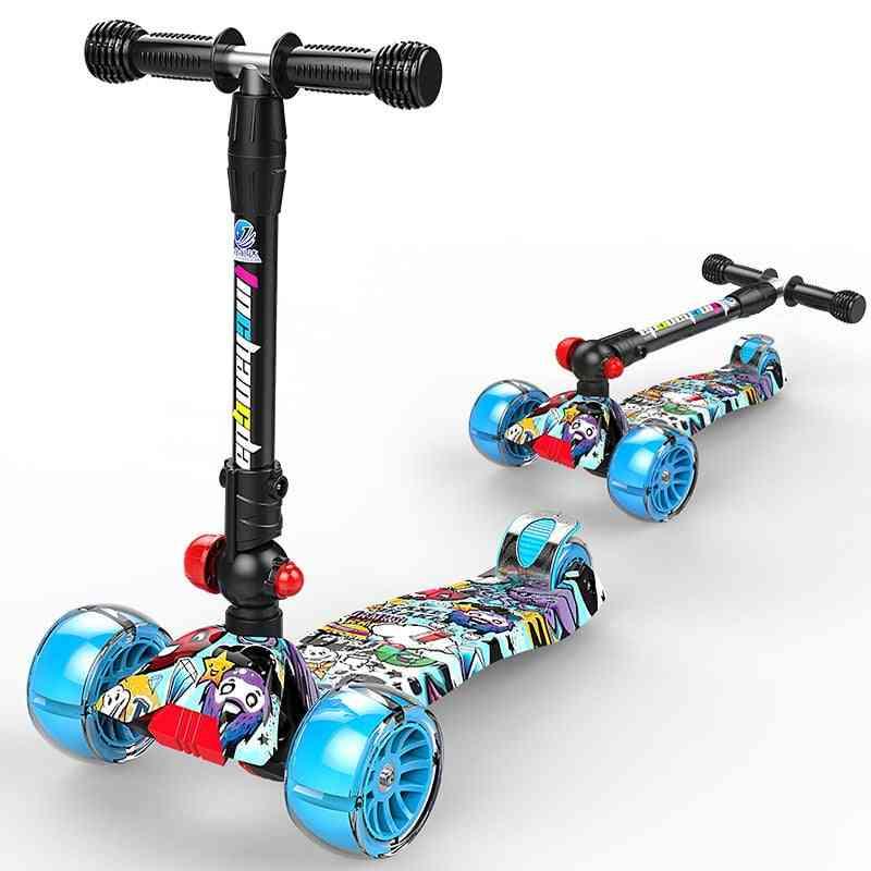 Children 4 Wheels Kick & Foot Scooter Adjustable Height