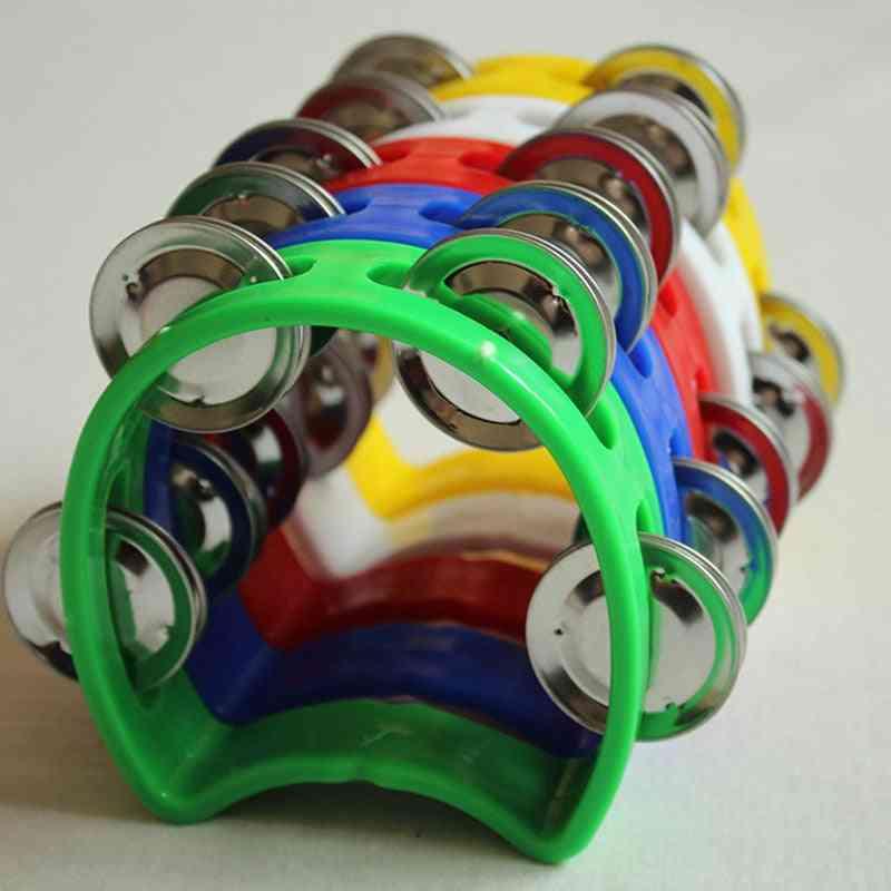 Metal Plastic Tambourine - Percussion Instrument