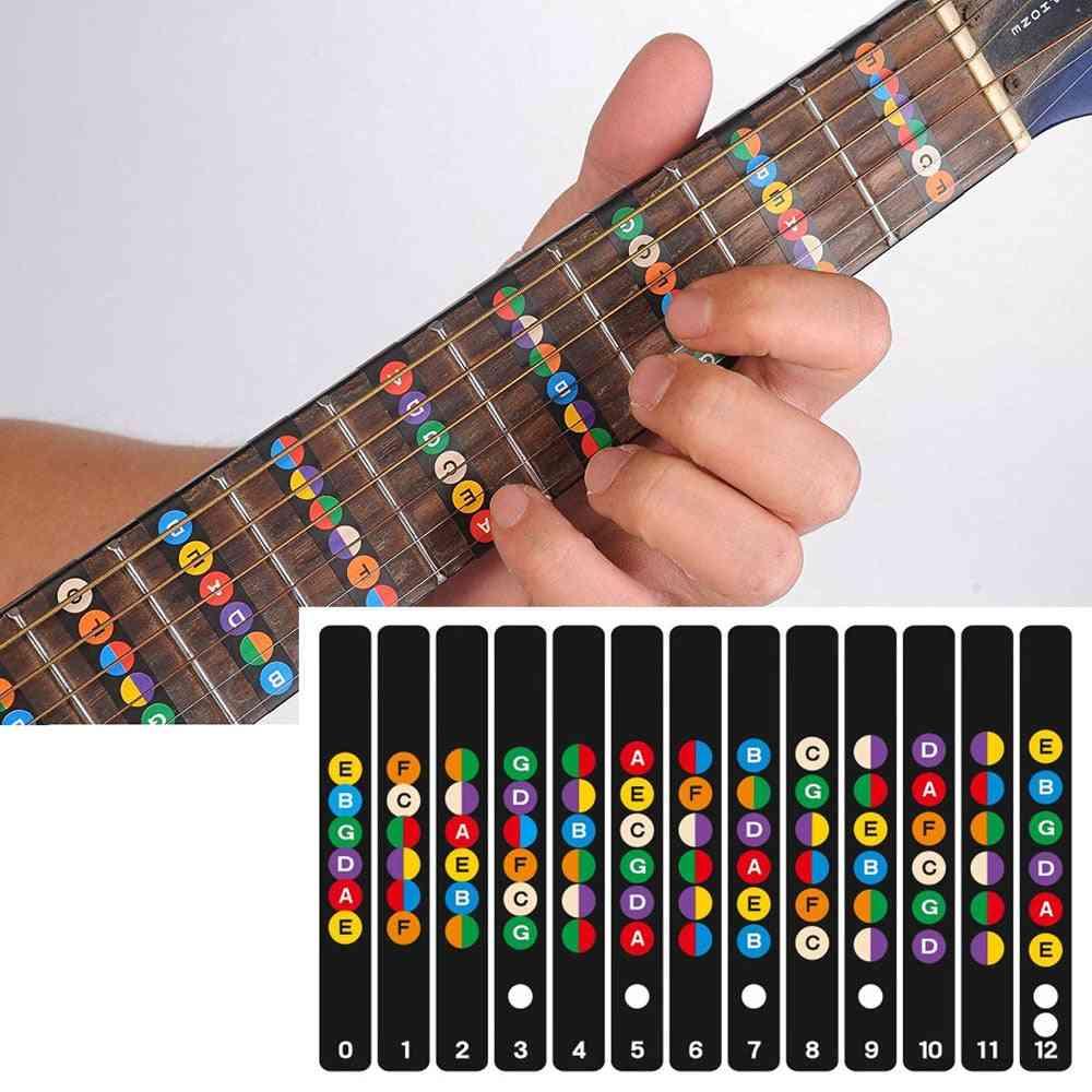 Guitar Fretboard Note Labels Fret Sticker