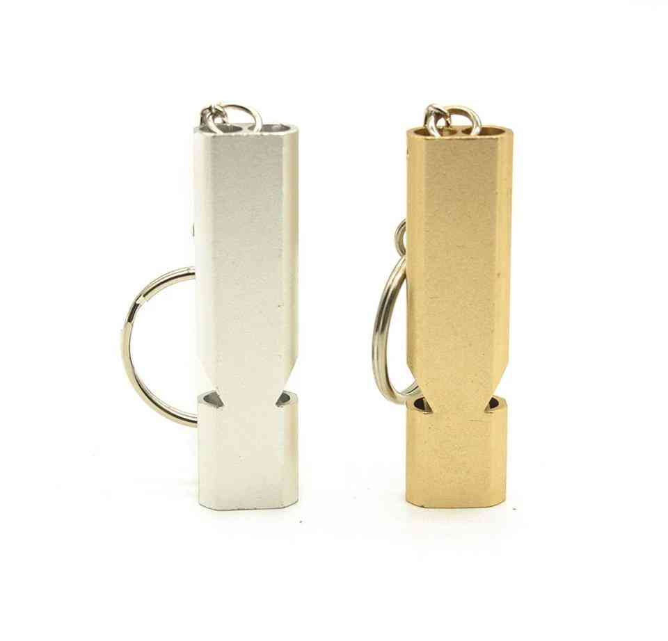 Outdoor Camping - Aluminum Alloy Whistle Keychain