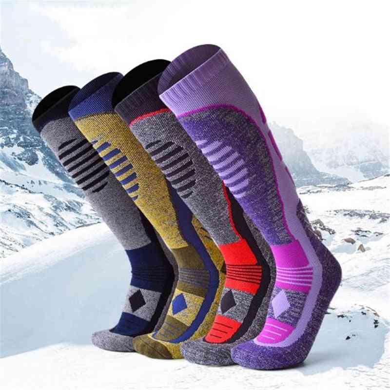 Thick Knee High Winter Sports Snowboarding Skiing Socks