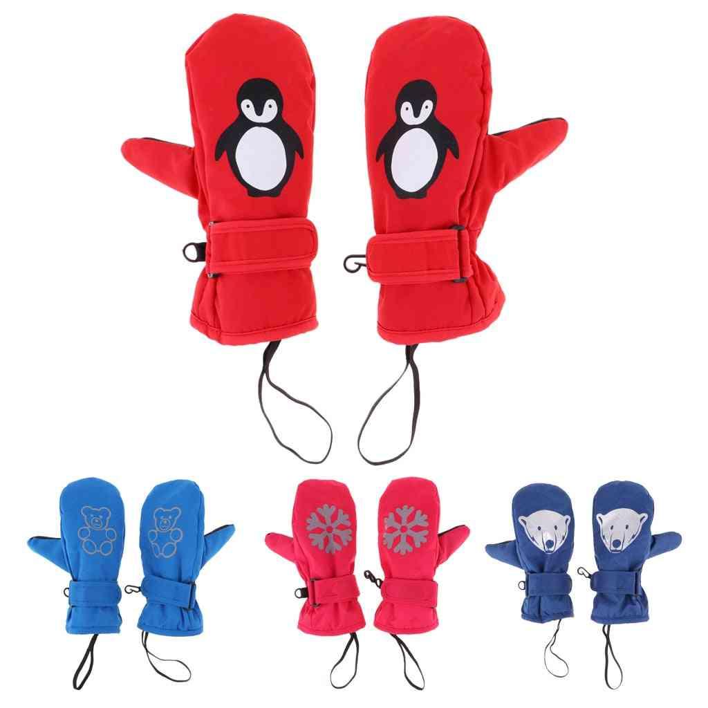Waterproof Thermal Ski Mittens Gloves